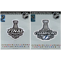 2020 Stanley Cup Final & Champions Tampa Bay Lightning Patch Combo