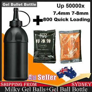 STD 7.4mm Gel Ball  Water Bullet With Bottle For Gel Ball Toys 7-8mm AU Saler