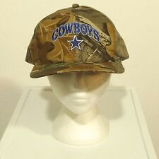 vintage DALLAS COWBOYS camouflage snapback hat trucker MADE IN THE USA