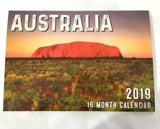 NEW 2019 Calendar Rectangle Calendar Wall Calendar 16 Months -Australia