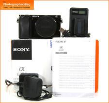 Sony A6000 Mirrorless Digital Camera Body, Akku & Ladegerät E Mount Free UK PP