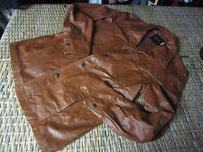 FIGHT CLUB Vtg 70s disco Brown Leather LEISURE SUIT western JACKET 38 R Medium M