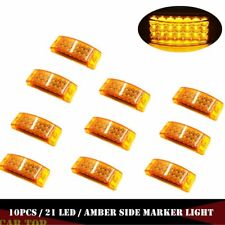 "10x Amber 6"" Rectangular Side Marker Turn LED Waterproof Trailer Lights 21 LED"