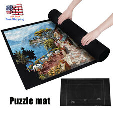Felt Storage Mat Jigsaw Puzzle Roll Up Puzzle Storage Up To 1500 Pieces Game US
