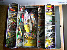 Vintage Simonsen 4 Tray Metal Tackle Box Loaded Full of Fishing Lures 4 Reels