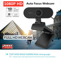 Full HD 1080P Auto Focus Webcam Built-in Microphone Camera For PC Laptop