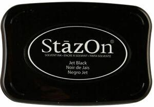 TSUKINEKO STAZON SOLVENT INKPAD ~JET BLACK CODE SZ-31