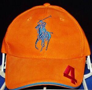 Polo Ralph Lauren Fragrances Pony 4 Orange Adjustable StrapBack Hat/Cap