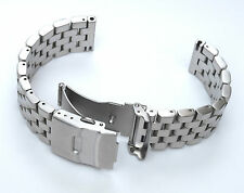 22mm SUPER Engineer Type II 316L Stainless Steel Straight End Watch Bracelet 2.5