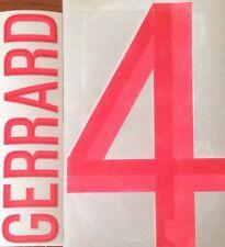 2012-13 Angleterre Gerrard #4 Accueil Shirt officiel sportingid Name Number Set