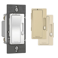 Legrand RHFB83PTC Radiant Slide Dimmer Switch, 15 Amp all three colors Preset