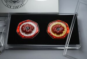 Pair of Remembrance Commemoratives in 50p Coin Display Case & Presentation Box.