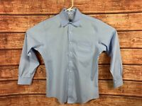 Brooks Brothers Classic Blue Supima Button Down LS Shirt Mens Size 16-34