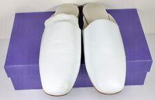 Stuart Weitzman Mulearky White Napa Leather Slip On Mule Womens Shoe Size 6.5