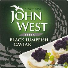 JOHN WEST BLACK LUMPFISH CAVIAR 50G x 3 tins