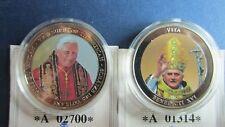 Dos medallas Pabst benedicto xvi de 2007 tesoros del Vatican en pp (m93)
