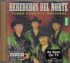 Los Herederos Del Norte Puros Corridos Mafiosos CD New Nuevo