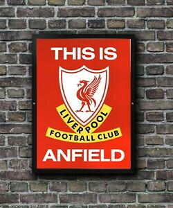 This is Anfield Poster Liverpool FC Tunnel sign Football Wall Art A3 and A4
