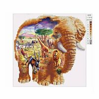 Elephant 6135 Square Art Painting DIY Handmade Diamond Painting Cross Stitch-%