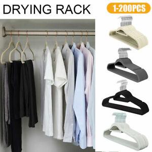 Kleiderbügel Samt Anti-Rutsch Anzugbügel Hemdenbügel Wäschebügel Mehrere Größen