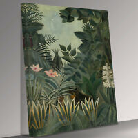 Henry Rousseau the equatorial jungle Canvas Wall Art Picture Print