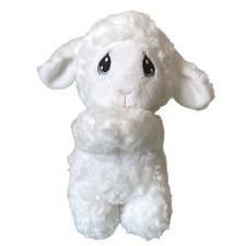 "Precious Moments Luffie Praying Lamb Stuffed Animal Plush w/ Sound, Big Eyes 10"""