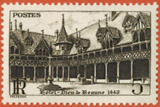 1941-Timbre France Neuf**/5Fr-Hotel Dieu-Hospices de Beaune(21)-Yt.N°499