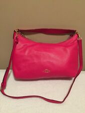 Coach Celeste East/West Convertible Hobo in Pebble Leather (Pink Ruby) - F36628