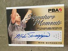 2007 PBA Bowling Signature Moments Autograph Mike Scroggins