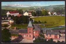 64632 AK Hermsdorf b. Freiburg Schlesien Bahnhof 1923 Bahnpost Löwenberg