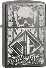 Zippo Sons of Anarchy SAMCRO Reaper Crew Black Ice Windproof Lighter 28757 NEW