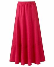 Linen Blend Casual Flippy, Full Skirts for Women