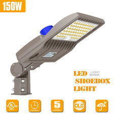 150w Led Parking Lot Light Dusk To Dawn Commercial Street Shoebox Pole Lighting