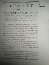 803 DÉCRET CONVENTION NATIONALE 1793 IMPRESSION & ENVOI PROJET DE CONSTITUTION