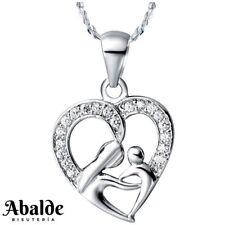 9d00730d0ce1 Collar Colgante Mujer Corazón Madre e Hija Plata Regalo ideal Mama Pareja  Novia