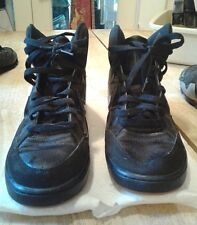 NIKE SON OF FORCE MENS BLACK SUEDE MID GUM BASKETBALL SHOES #616281-020-SIZE 8.5