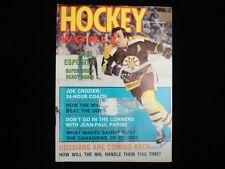 November 1973 Hockey World Magazine - Phil Esposito Boston Bruins Cover