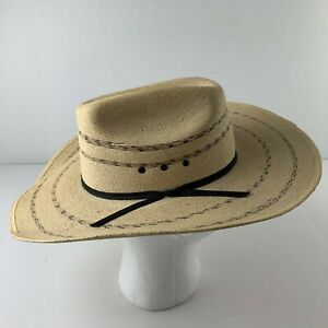 Resistol Self Conforming 58 7 1/4 Straw Western Long Oval Cowboy Hat Mexico