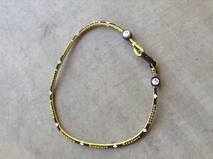 """TITANIUM NECKLACE SPORT PITTSBURGH STEELERS 21"""" LONG SINGLE BAND NFL"""