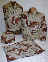 Desert Storm 6 Color Chocolate Chip Shirt Pants Vest Helmet Cover Set X-Small