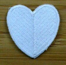 Applikation zum Aufbügeln Bügelbild 3-131 Herz Weiß