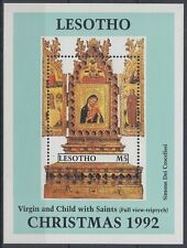 Lesotho 1992 ** Bl.94 Gemälde Paintings Weihnachten Christmas  [sq5343]