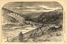 Harpers Civil War 1862  GENERAL VIEW OF HARPERS FERRY & MARYLAND HEIGHTS