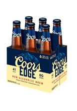 Coors Edge Non Alcoholic Brew Malt Beverage 6 Pack 12oz Bottles 41 Calories
