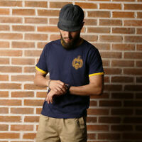 NON STOCK US Naval Academy Training T-Shirts Men Sports Tee Slim Fit Navy Blue