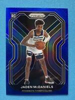 2020-21 Panini Prizm Basketball NBA Jaden McDaniels Blue Prizm /199 RC Rookie