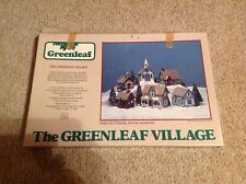 Greenleaf Village Set #8016 6-Piece Set Miniature Houses Kit - 1983 Vintage