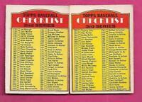 RARE 1972 OPC # 103 - 251 UNMARKED CHECKLIST CARD (INV# J0113)