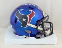 DeAndre Hopkins Autographed Houston Texans Chrome Mini Helmet- JSA W Auth *Top