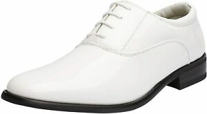 Bruno Marc Mens Faux Patent Leather Dress Shoes Classic Formal Oxford Shoes